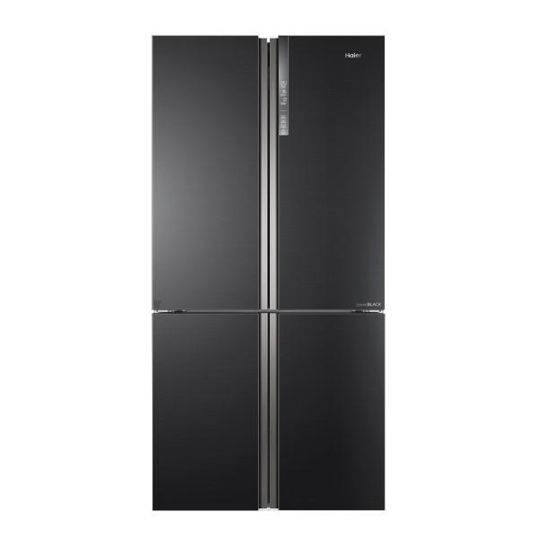 Haier HTF-610DSN7 - Frigorífico combinado puerta francesa A++ Total No Frost Acero Negro